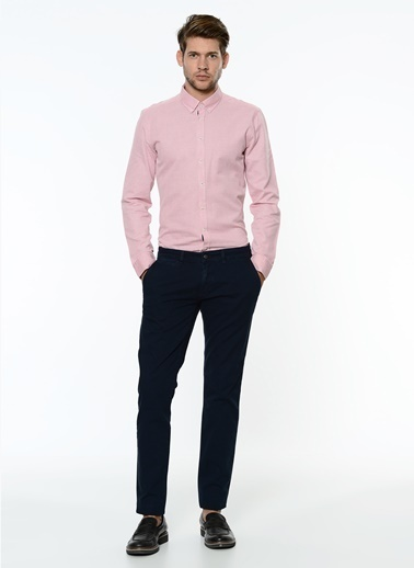 George Hogg Uzun Kollu Slim Fit Gömlek Mercan
